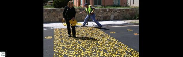 Installing Crosswalk in Santa Fe, NM