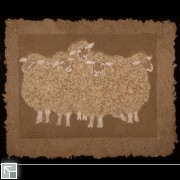 Sheep -  handmade paper and wool